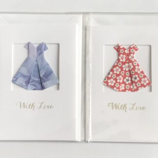 origami drees greetings cards by kppapercuts