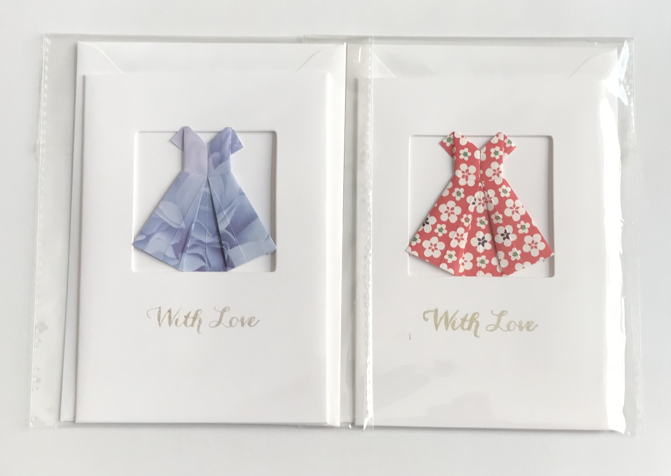 Origami Drees Greetings Cards By Kppapercuts