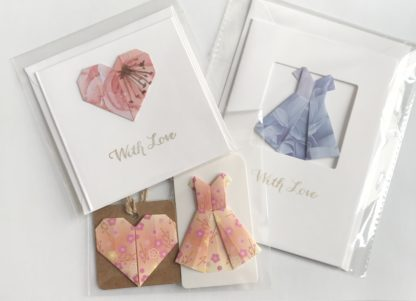 origami cards and gift tags by kppapercuts