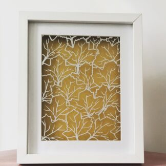 skeleton leaves paper cut art by kppapercuts