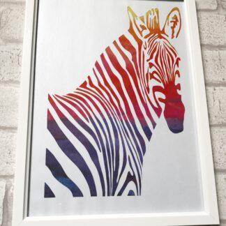 zebra paper cut by kppapercuts