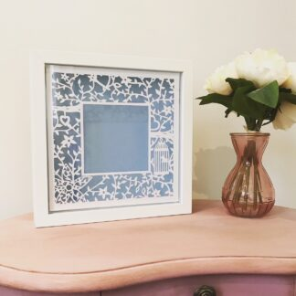 paper cut wedding photo frame