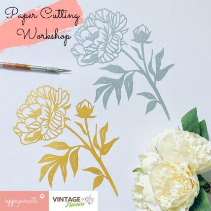 Paper cutting workshop County Durham