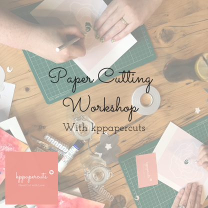 Paper cutting workshop with kppapercuts