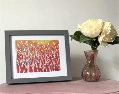 Sunset Reeds paper cut art