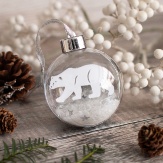 Polar Bear paper cut bauble