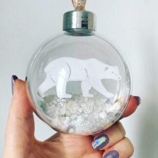 paper cut christmas baubles