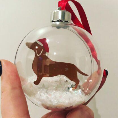 Dachshund Christmas Bauble