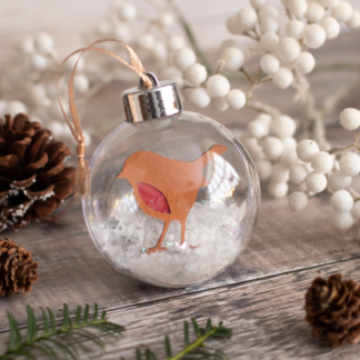 Robin paper cut Christmas bauble
