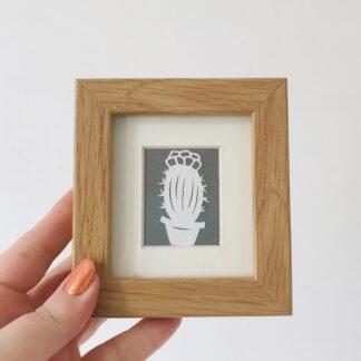 miniature cactus by kppapercuts