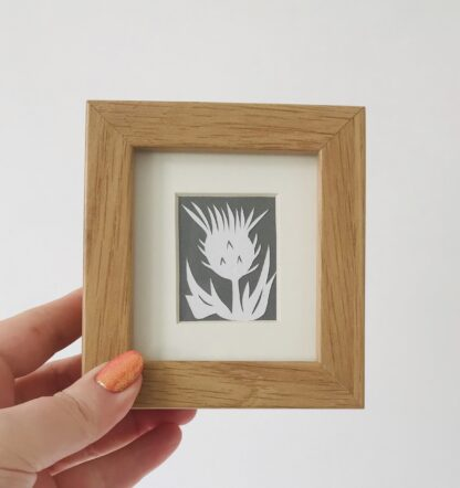 miniature thistle paper cut by kppapercuts