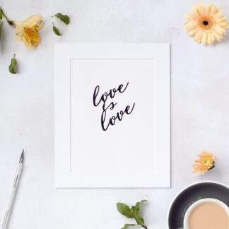 Love is love hand cut paper quote from kppapercuts