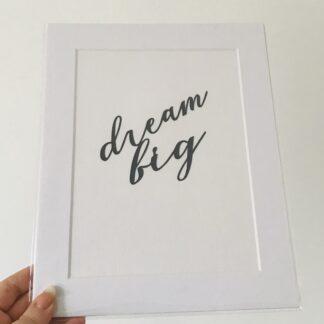 dream big quote by kppapercuts