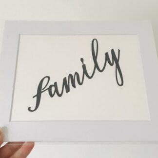 family paper cut quote