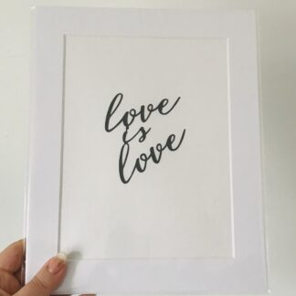 love is love paper cut quote