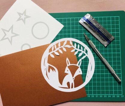 Fox Paper Cutting Kit