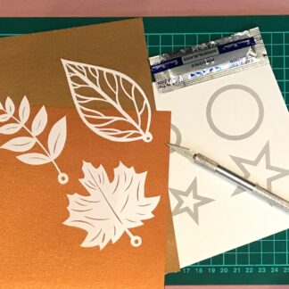 Paper cutting project kit autumn