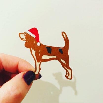 Hand cut Beagle