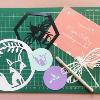 paper cutting workshop gift voucher
