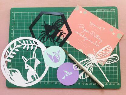 paper cutting workshop gift voucher