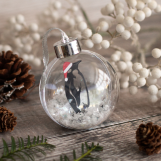 Penguin paper cut bauble