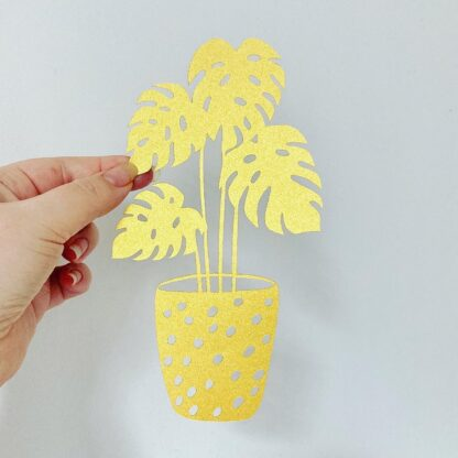 Golden Plant paper cut art by kppapercuts
