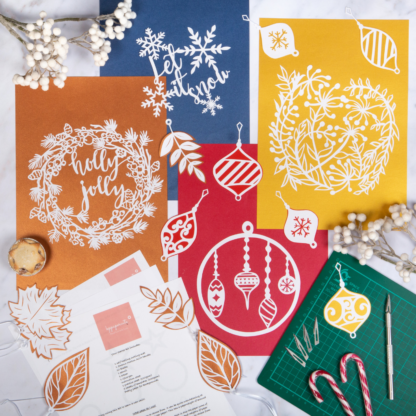 Christmas paper cutting kit