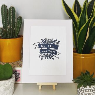 Be you not them paper cut quote in black by northeast artist kppapercuts