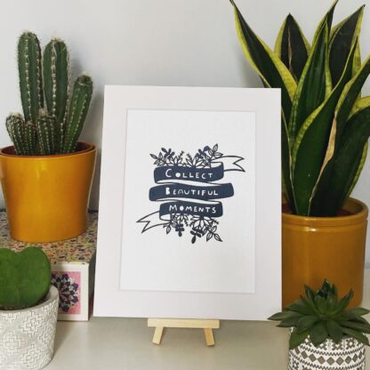 Collect Beautiful Moments Paper Cut Quote in black by northeast artist kppapercuts
