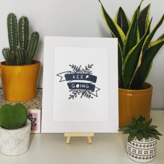Keep going paper cut quote by northeast artist kppapercuts
