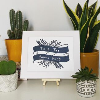 This too shall pass paper cut quote by northeast artist kppapercuts